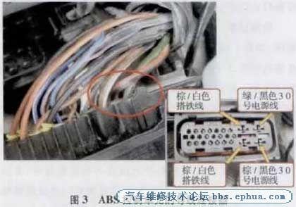 捷达车ABS故障灯常亮高清图片
