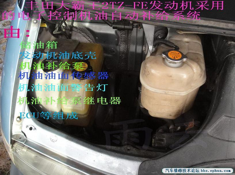 起动机电路图简图-PREVIA 发动机机油变多 机油自动补给系统故障诊断图片