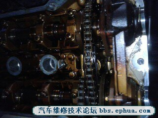 宝马530i气门油封漏油,冷车启动抖动 另求详细正时图 汽车维修技术高清图片
