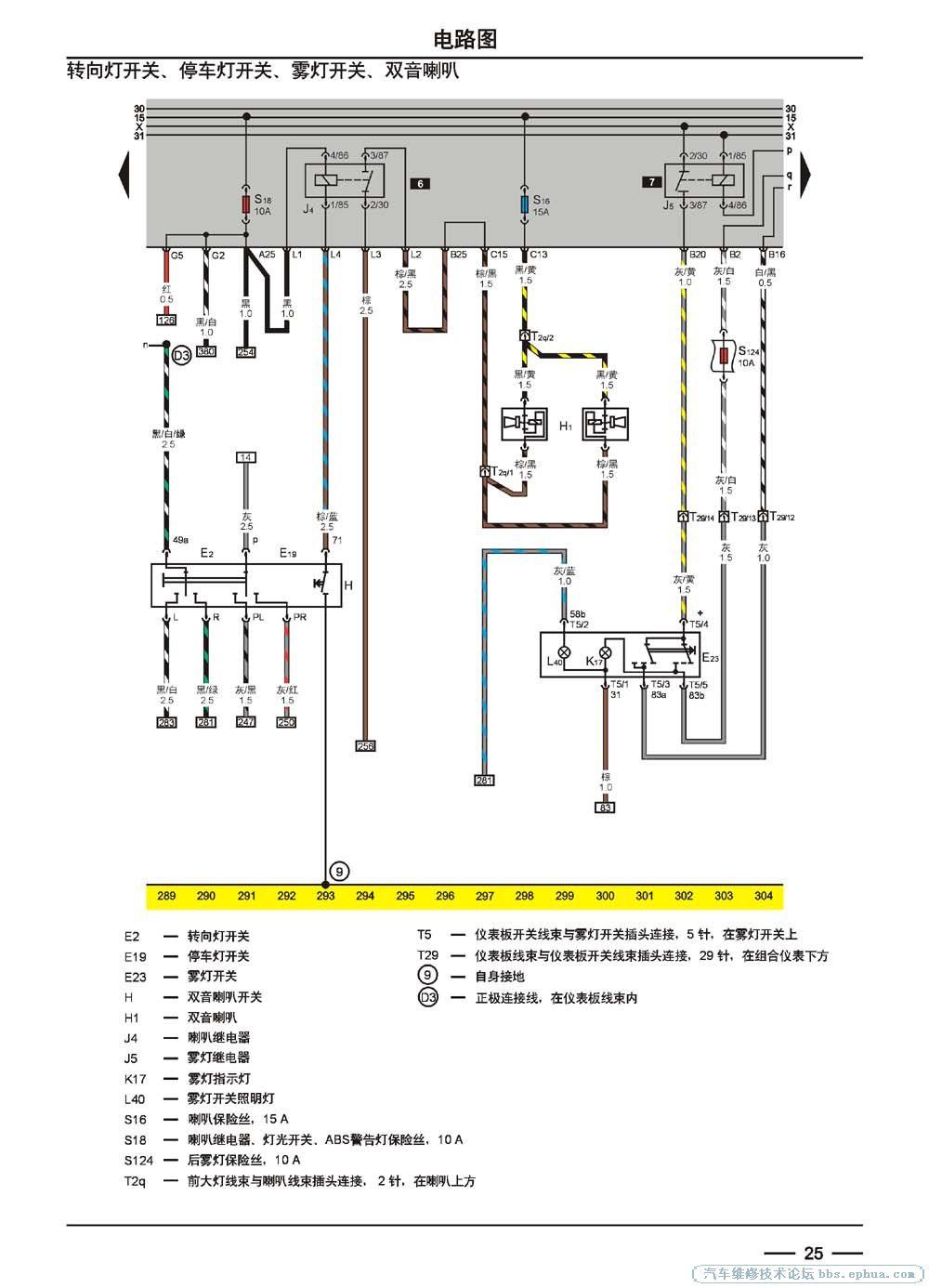 桑塔纳2000时代超人电控系统电路图3