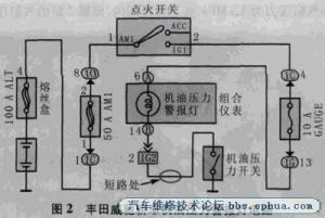 威驰车接通点火开关后清洗泵自动喷水高清图片